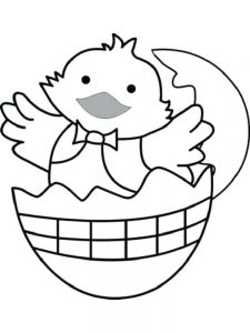 egg chick coloring pages pdf