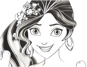 elena of avalor characters coloring pages