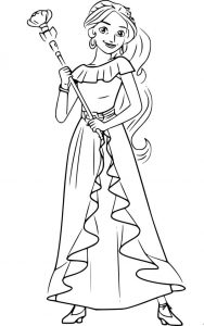 elena of avalor coloring page easy