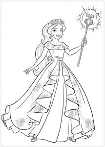 elena of avalor coloring page for a year old