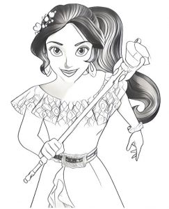 elena of avalor coloring page printable