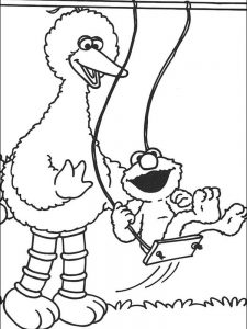 elmo coloring page free