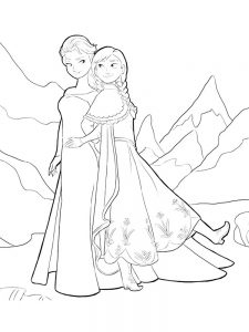 elsa frozen castle coloring page