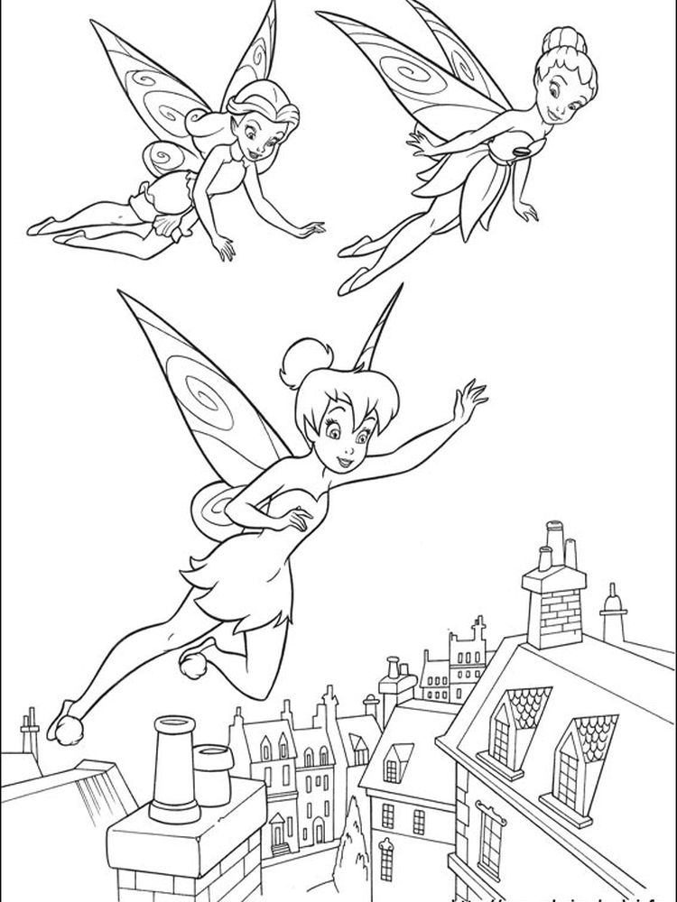 emo tinkerbell coloring pages