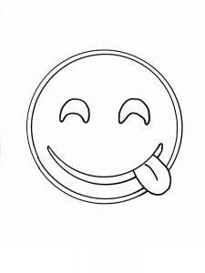 emoji coloring pages to print for free