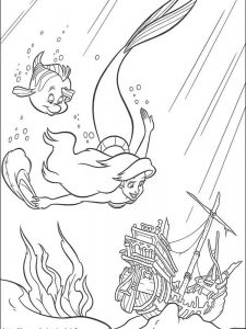 eric little mermaid coloring pages