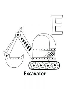 excavator coloring page print