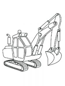excavator coloring page to print
