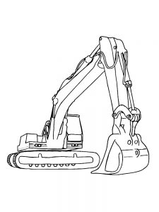 excavator coloring page to printable