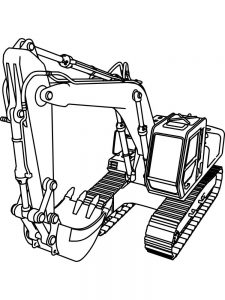 excavator coloring pages background