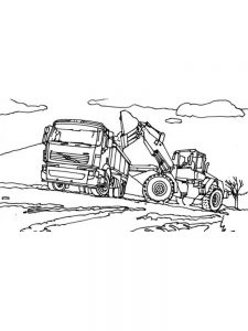 excavator coloring pages for kids