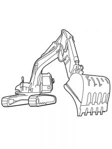 excavator coloring pages image