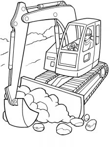 excavator coloring pages new