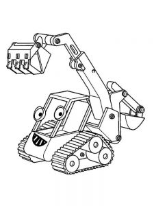 excavator coloring pages pdf