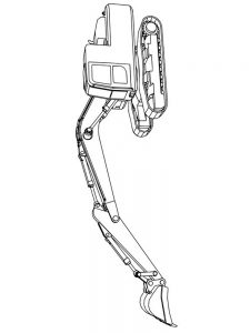 excavator coloring pages pict