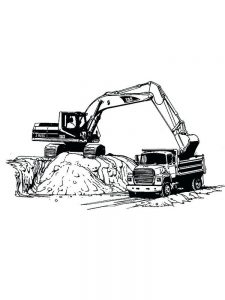 excavator coloring pages to pdf