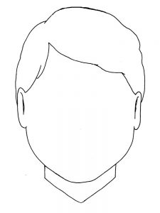 face coloring pages girl