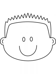 face coloring pages printable