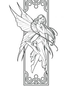 fairy birthday coloring pages