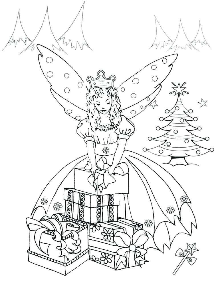 fairy cartoon coloring pages