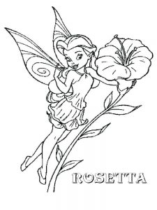 fairy characters coloring pages