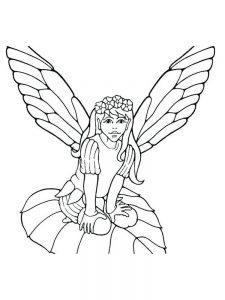 fairy coloring book pages