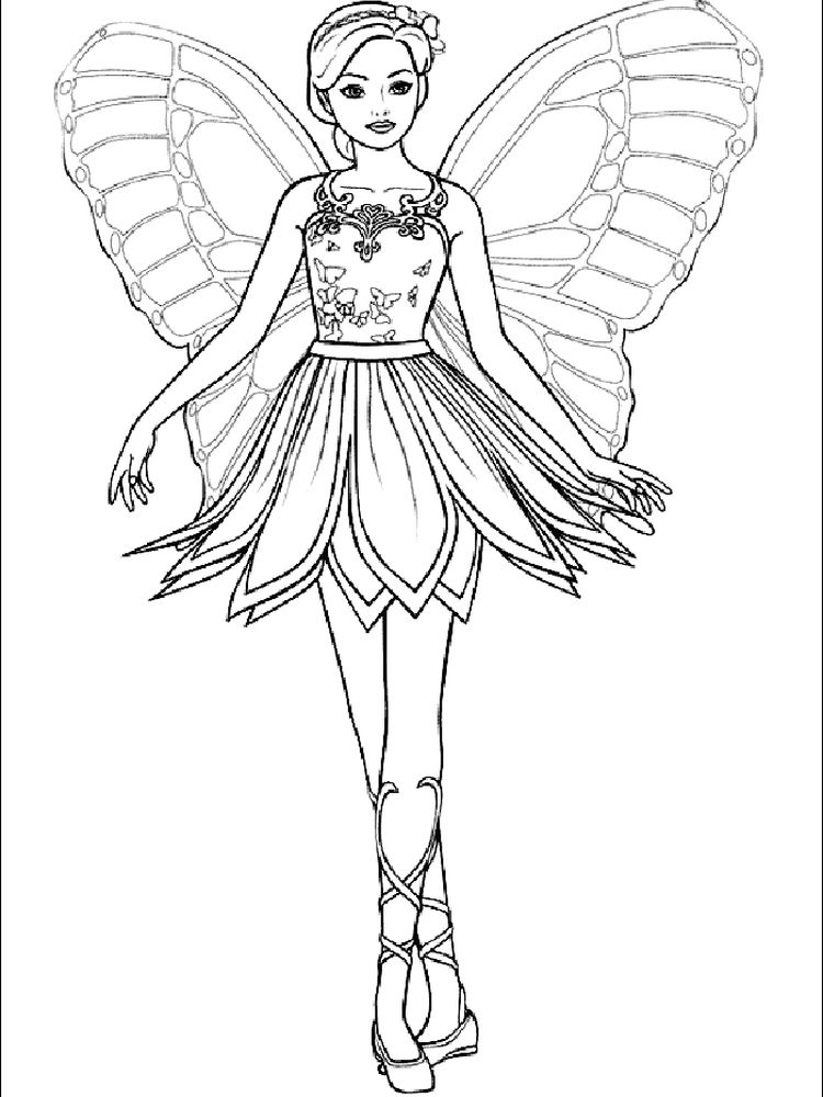 fairy coloring pages for toddlers