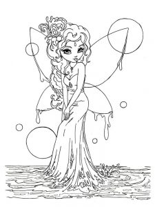 fairy coloring pages princess