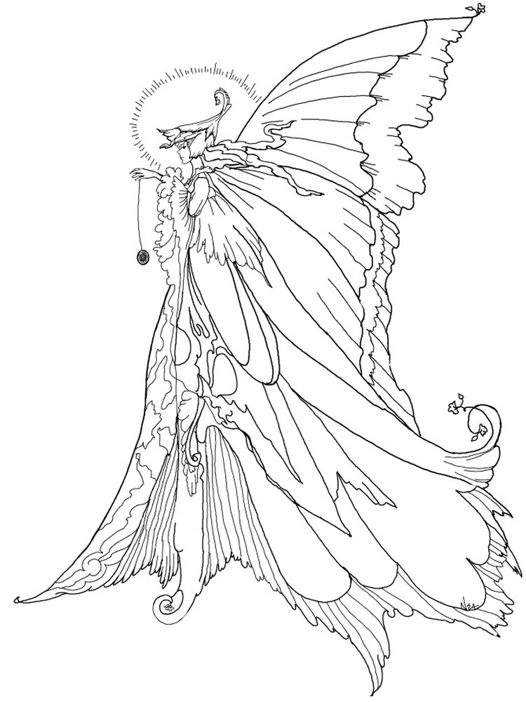 fairy coloring pages winx
