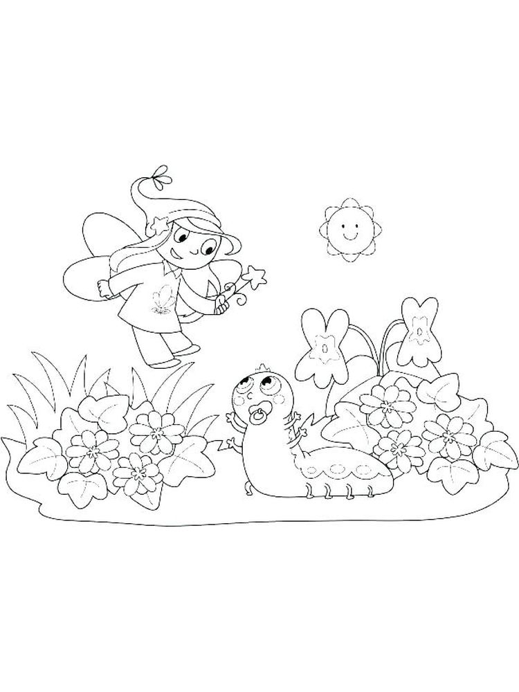 fairy costume coloring pages