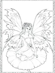 fairy door coloring pages