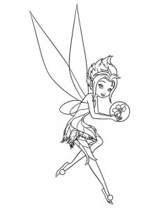 fairy paper doll coloring pages