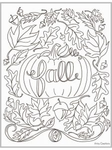 fall coloring activity pages