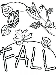 fall coloring pages for 2nd graders