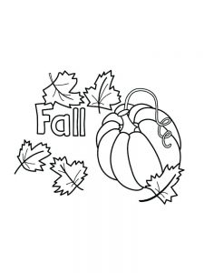 fall coloring pages for 3rd graders