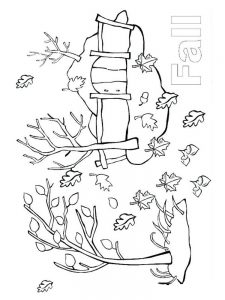 fall coloring pages for adults pdf
