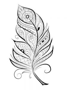 feather pattern coloring page