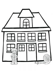 fire coloring page free
