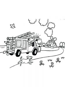 fire coloring pages to print