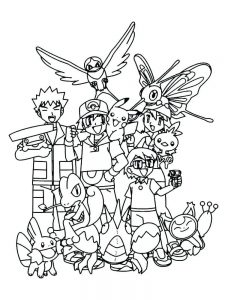 fire pokemon coloring page