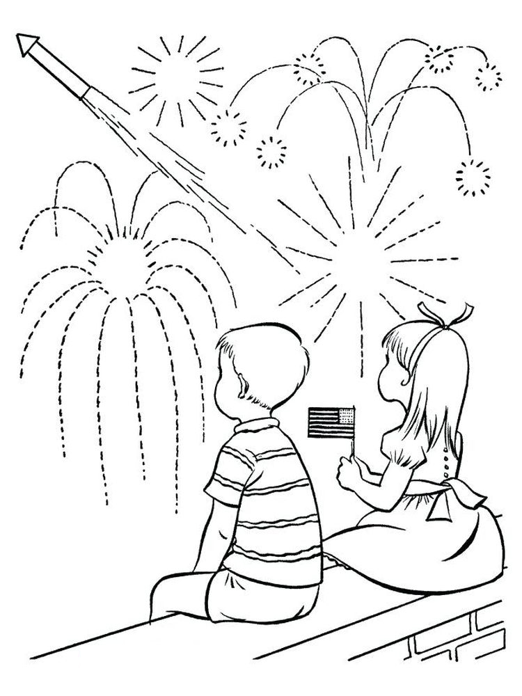 fireworks coloring pages for adults