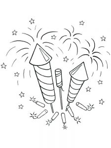 fireworks colouring pages free