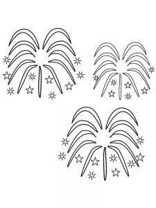fireworks colouring pages printable