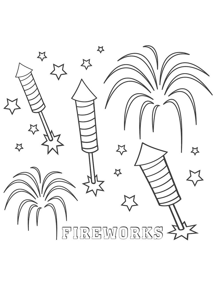 fireworks safety coloring pages