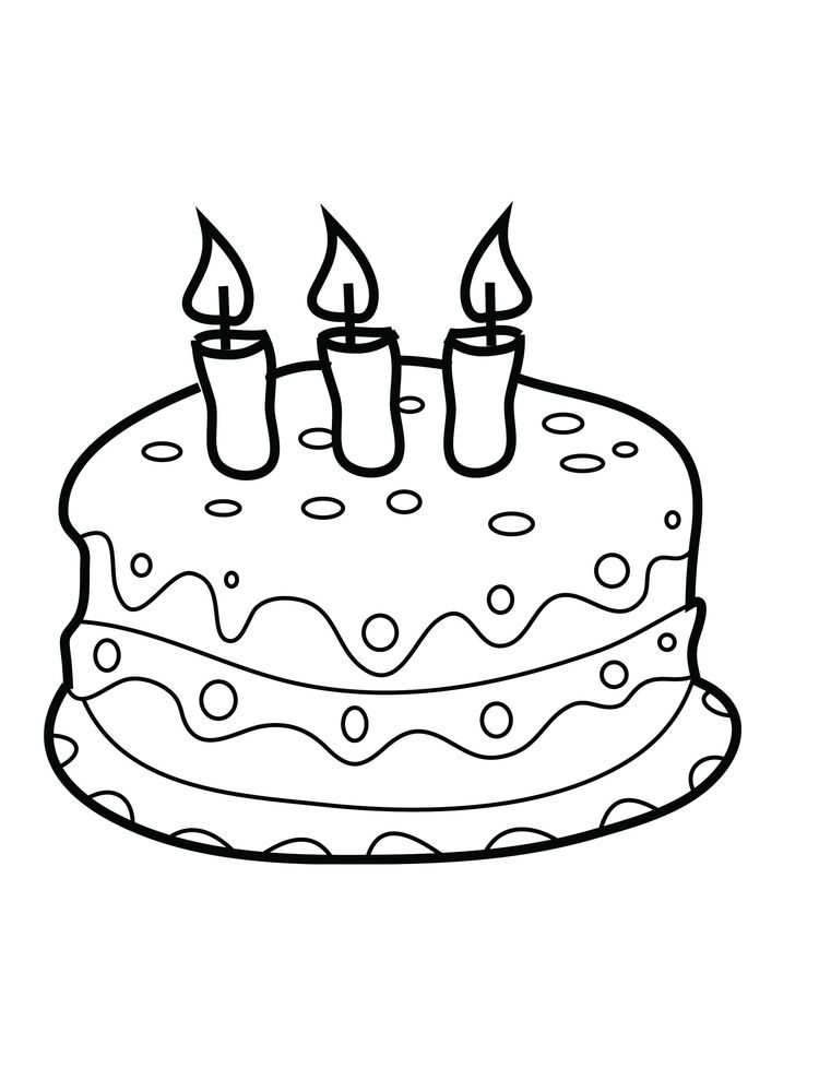 first birthday cake coloring page