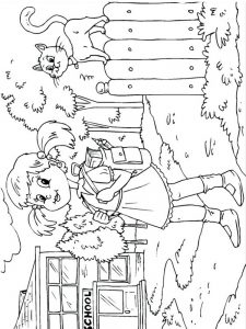 first day of school coloring page for kindergarten