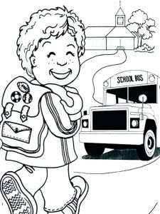 first day of school coloring pages 3rd grade