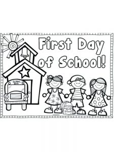 first day of school coloring pages first grade