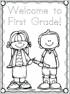 first day of school coloring pages for prek