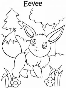 flabebe pokemon coloring page